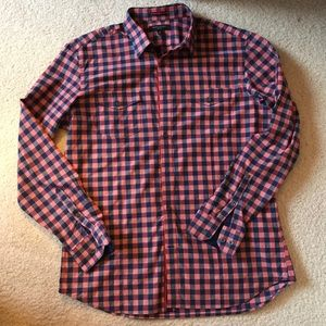 Banana Republic slim fit gingham button down